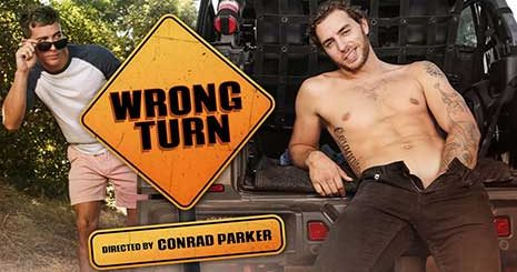 Horny Carter Woods spotted by Isaac Parker while jerking off in the back of his truck & gets busted touching himself. Luckily for Carter, Isaac was really interested in his cock. Watch what happens next.