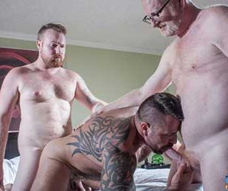Kyle Scott has had a longtime Daddy fantasy. When we learned about his taboo desire, naturally we had to explore it along with him. So we paired him up with one of the hottest muscle bears of them all, Marc Angelo.