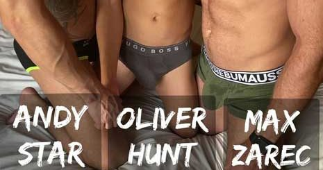 Oliver Hunt with another muscle stud, but ends up being the bottom bitch! I like to go somewhere warm when winter arrives. I hate cold weather.