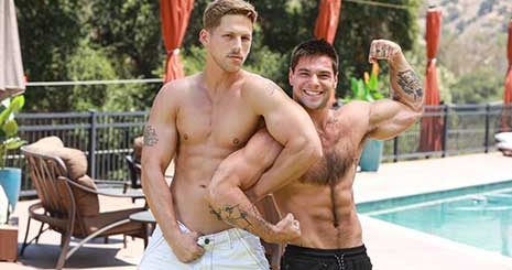 Aspen with another muscle stud, but ends up being the bottom bitch! I like to go somewhere warm when winter arrives. I hate cold weather.